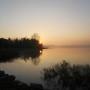 Il lungo lago tra giochi di luci