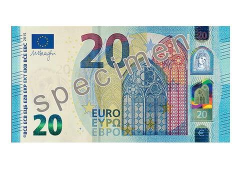 20 euro fronte