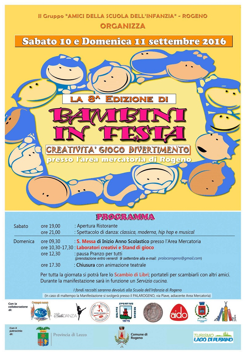 A Rogeno Il 10 E 11 Settembre Bambini In Festa La Nuova Briantea
